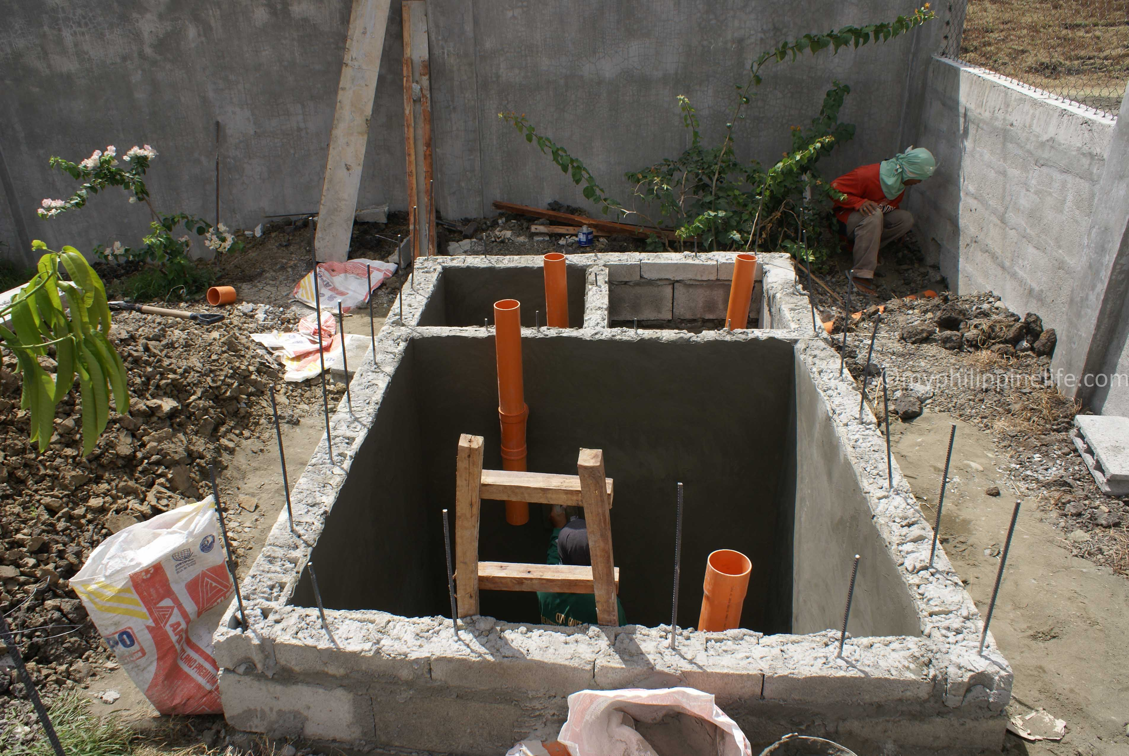 Our philippine house project septic and drainage systems for House drainage system pdf