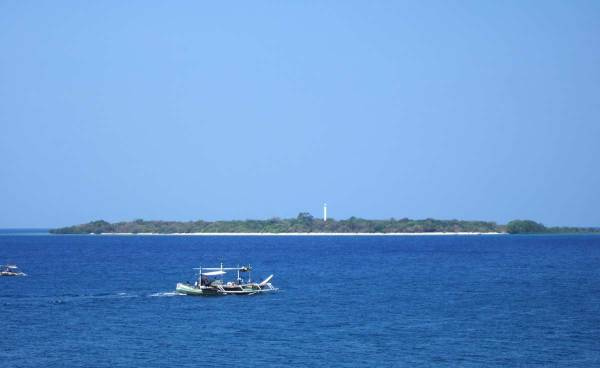 Nogas Island from Sira-an Resort.
