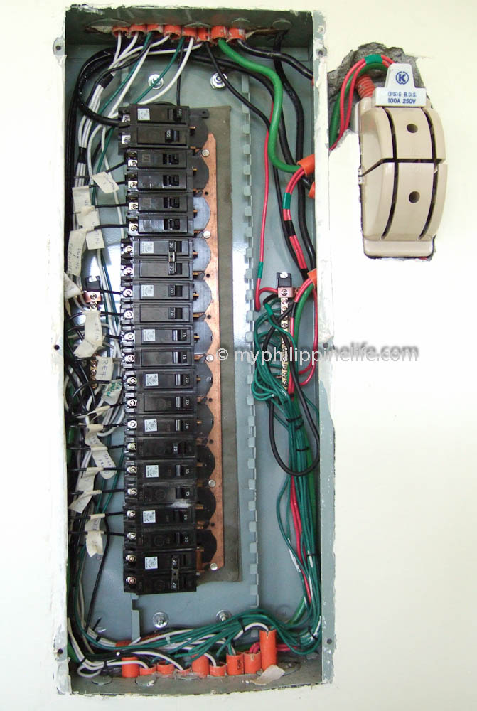 Panel box wired single pole