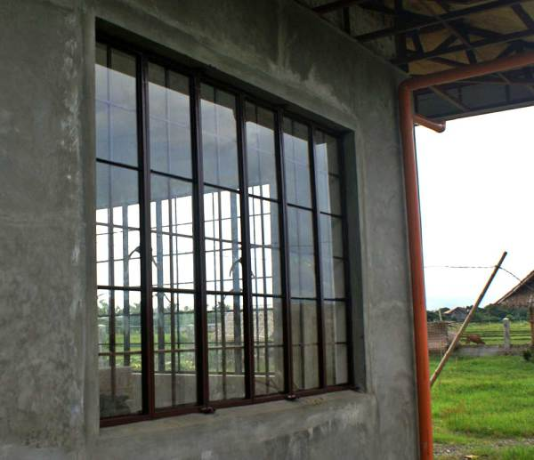 Completed and glazed windows.