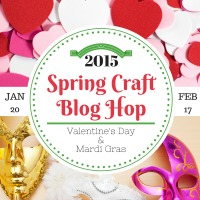 Spring Craft Blog Hop - Valentine's Day, President's Day, and Mardi Gras