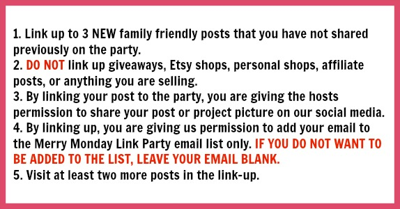 Merry Monday Link Party Guidelines