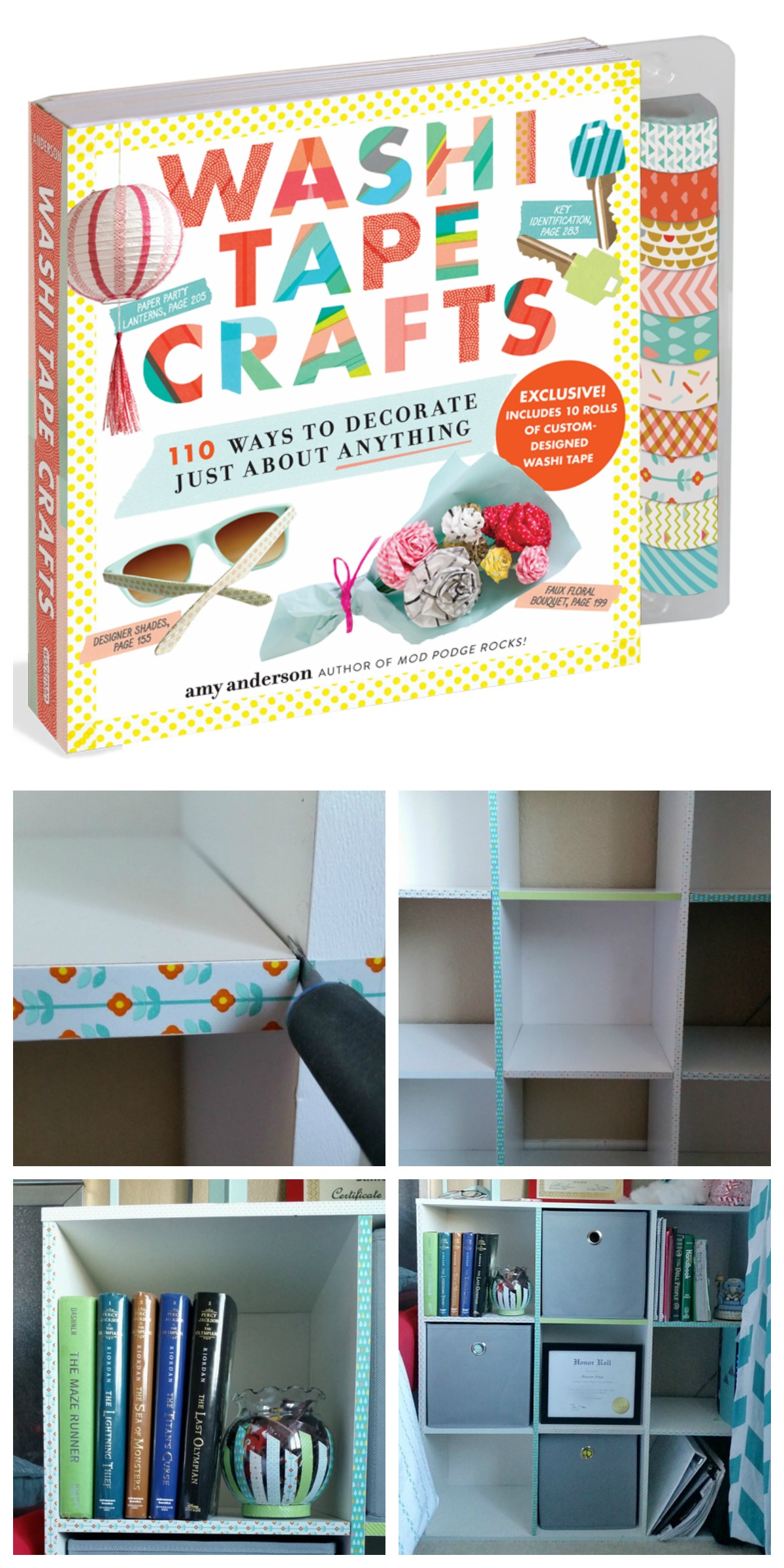Washi Tape Crafts Review Cube Shelf Makeover My