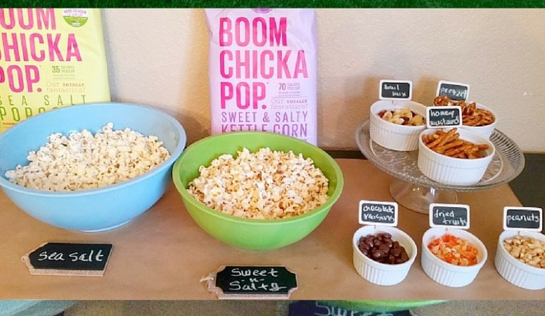 Game Day BOOMCHICKAPOP Popcorn Bar + Giveaway!
