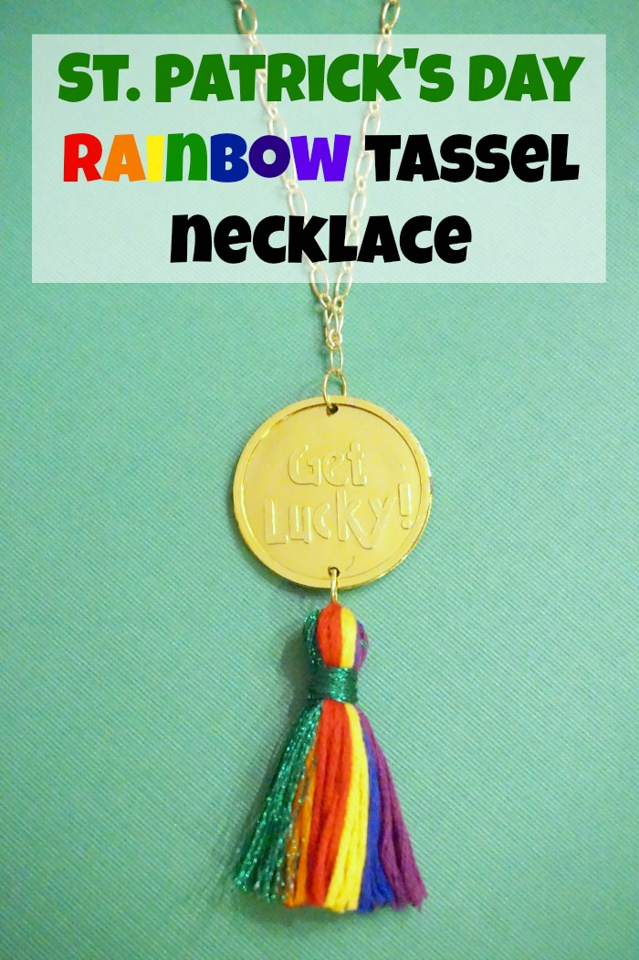 St. Patrick's Day Rainbow Tassel Necklace