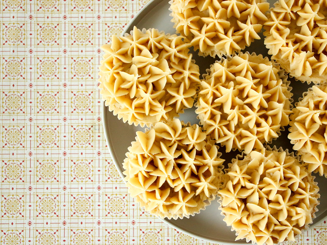 Banana Cupcakes with Kaya Jam Frosting
