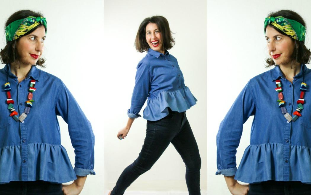 Wear My Wardrobe – Ruffle Denim Shirt 3 Ways