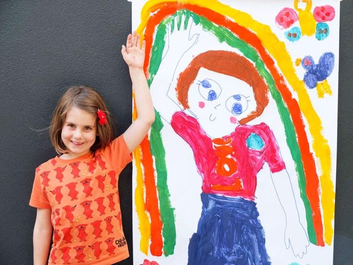 Kids Art Activity: Life-size Self Portrait