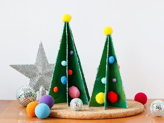 Kids Recycle Craft: Cereal Box Christmas Tree