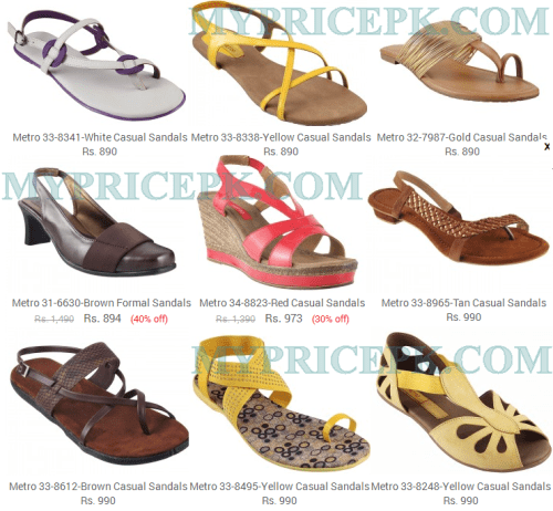 Metro Shoes For Ladies Womens Girls Collections 2016 With Price in Pakistan