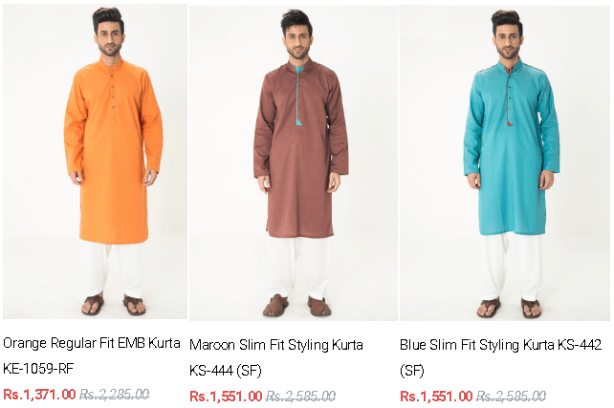 Gul Ahmed Men's Ready To Wear Kurta Collection Latest Arrivals Colors Price In Pakistan Images Designs