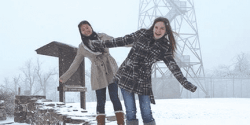 Exchange Students Get First Taste of Snow