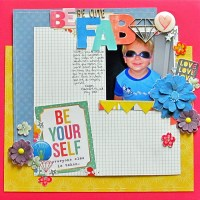 "Scrapbooking with a ""Girly"" Kit for a Boy's Layout"