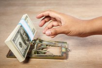 Photo of money trap courtesy of Shutterstock