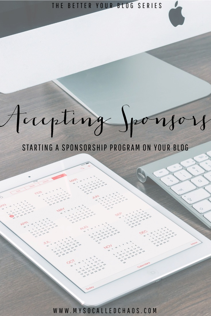 Accepting Sponsors: Starting a Sponsorship Program on Your Blog