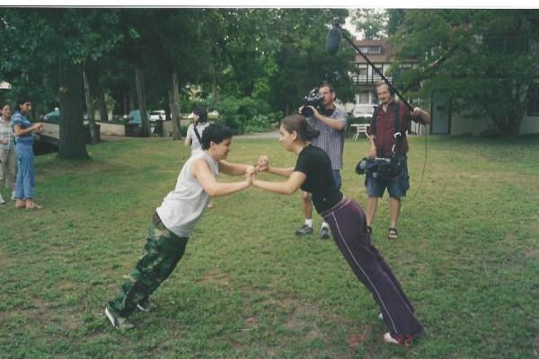 JS and Gab filming Rez and Adi