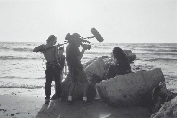 MS Gal beach shoot BW
