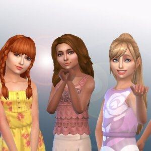 Girls Long Hair Pack 10