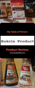 Sukrin Product Reviews by My Table of Three. Low Carb and Sugar free products