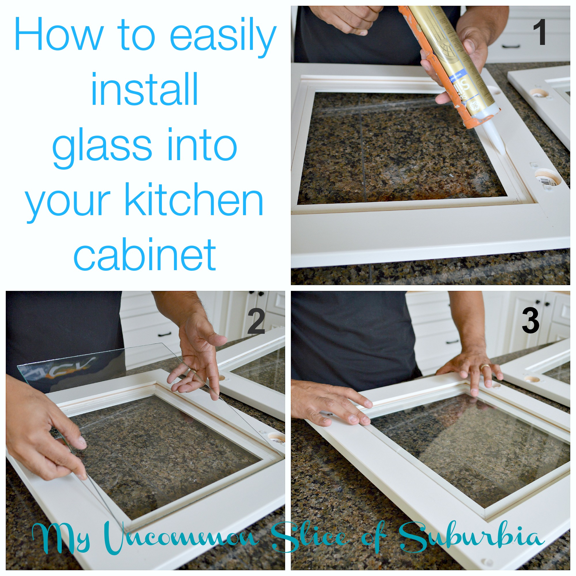 add glass inserts cabinets replacing kitchen cabinet doors door back up install glass into your kitchen cabinet
