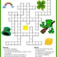 St. Patrick's Day Printable Crossword Puzzle