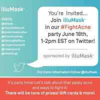 Twitter Party for illuMask RSVP today so you don't forget! #FightAcne 6/18 noon CST win gift cards