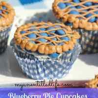 Blueberry Pie Cupcake the perfect July 4th dessert #recipe