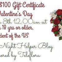Teleflora $100 Giveaway 2/8 US