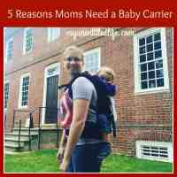 5 reasons you need a baby carrier! @CottonBabies #ad
