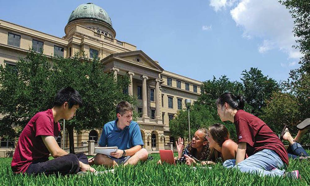 student studying at Texas A&M