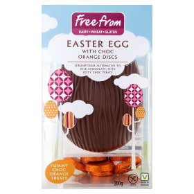 ASDA Free From Easter Egg with Choc Orange Discs