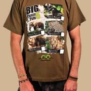 T-Shirt Kruger National Park Big 5 Olive Green