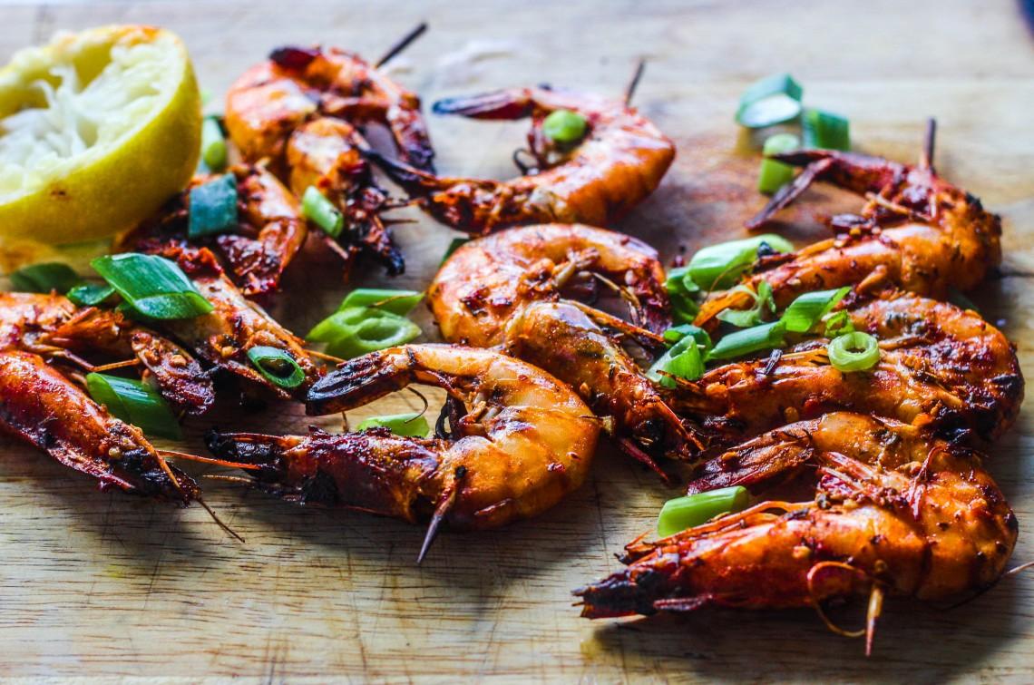 Camarao Grelhado Piri Piri (Grilled Prawns With Peppers ...