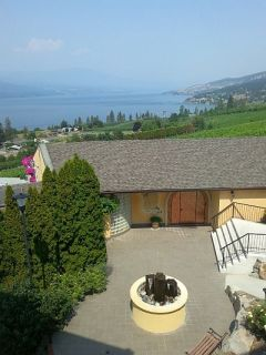 Gray Monk winery overlooking Okanagan Lake