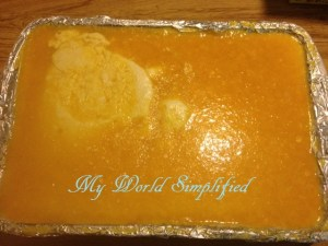another orange layer over the cream
