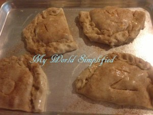 peach pies with egg wash
