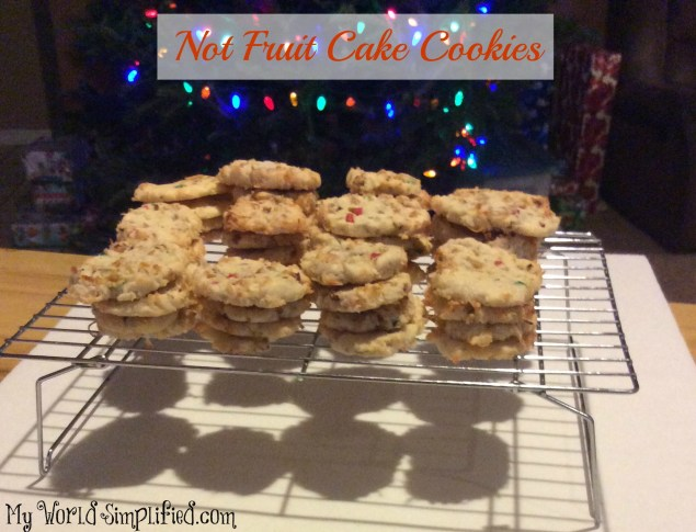 Not fruitcake cookie