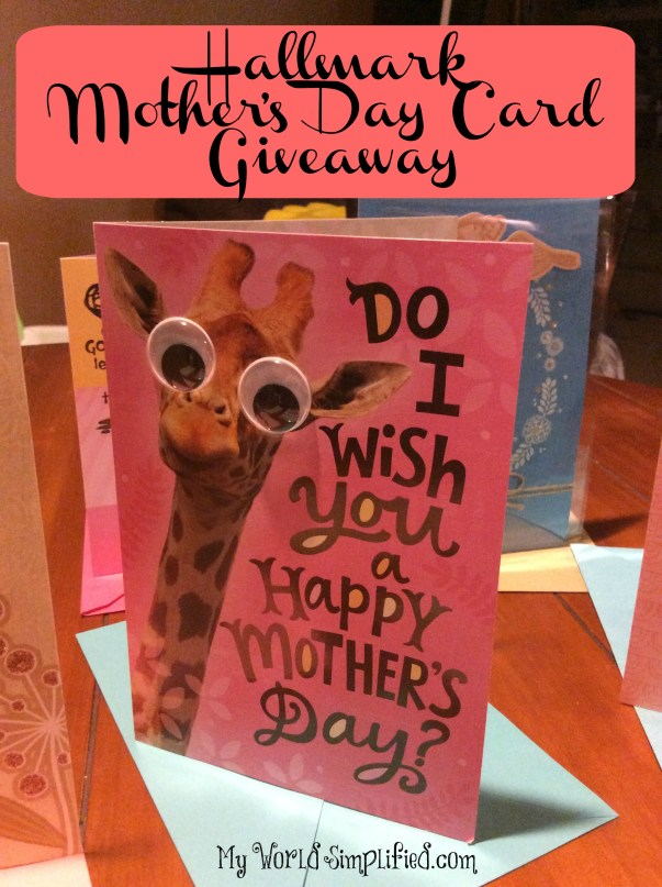 Hallmark Mothers Day Card Giveaway