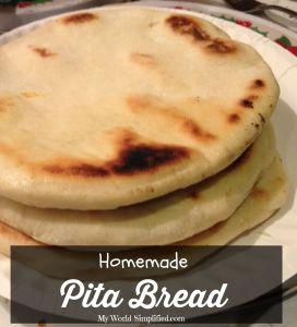 Homemade Pita Bread #Recipe