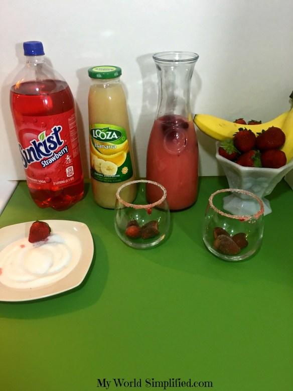 Strawberry banana drink