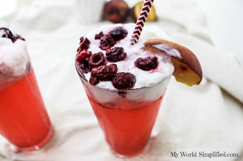 Peach Melba Cocktail Mocktail_-5