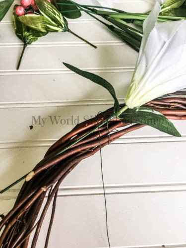 Dollar Tree Spring Wreath-3