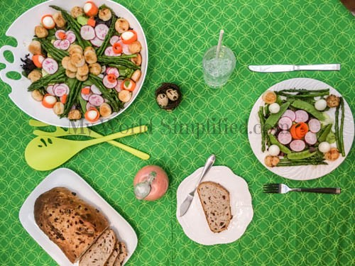 Spring Salad with Scallops-3