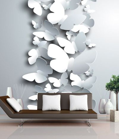 Buy FineArts Digitally Printed Wallpaper - 3D Butterflies With Printed 3D Show Pieces Online at ...