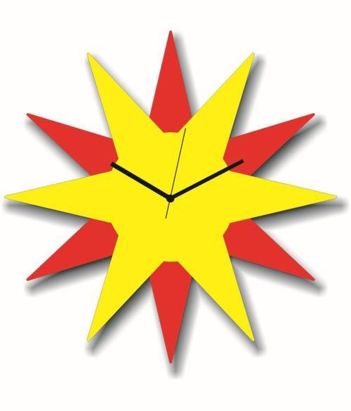 Dashing Panache Red Yellow Star Shaped Wall Clock Panache Red Yellow Star Shaped Wall Buy Panache Red Star Shaped Wall Clocks