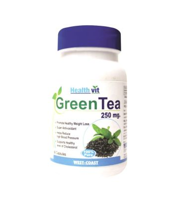 Healthvit Green Tea 100% Pure Natural Healthy 60 Capsules