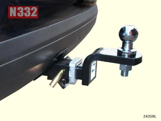 A removable ball latch