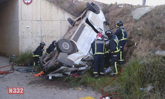Accidente furgoneta  RM 11 3