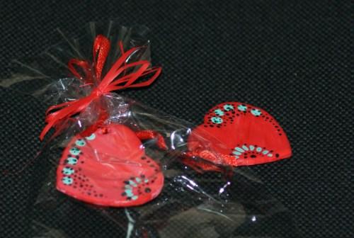 Валентинки, трансформируются в сережки