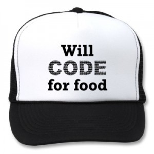 will code for food cap